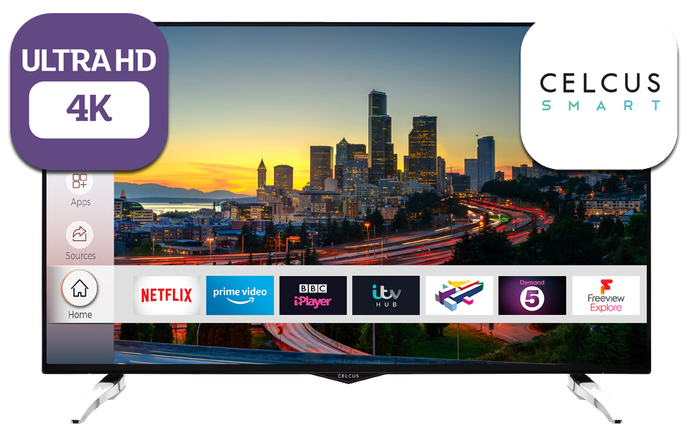 49 inch Ultra HD DLED UHD Smart HDR TV